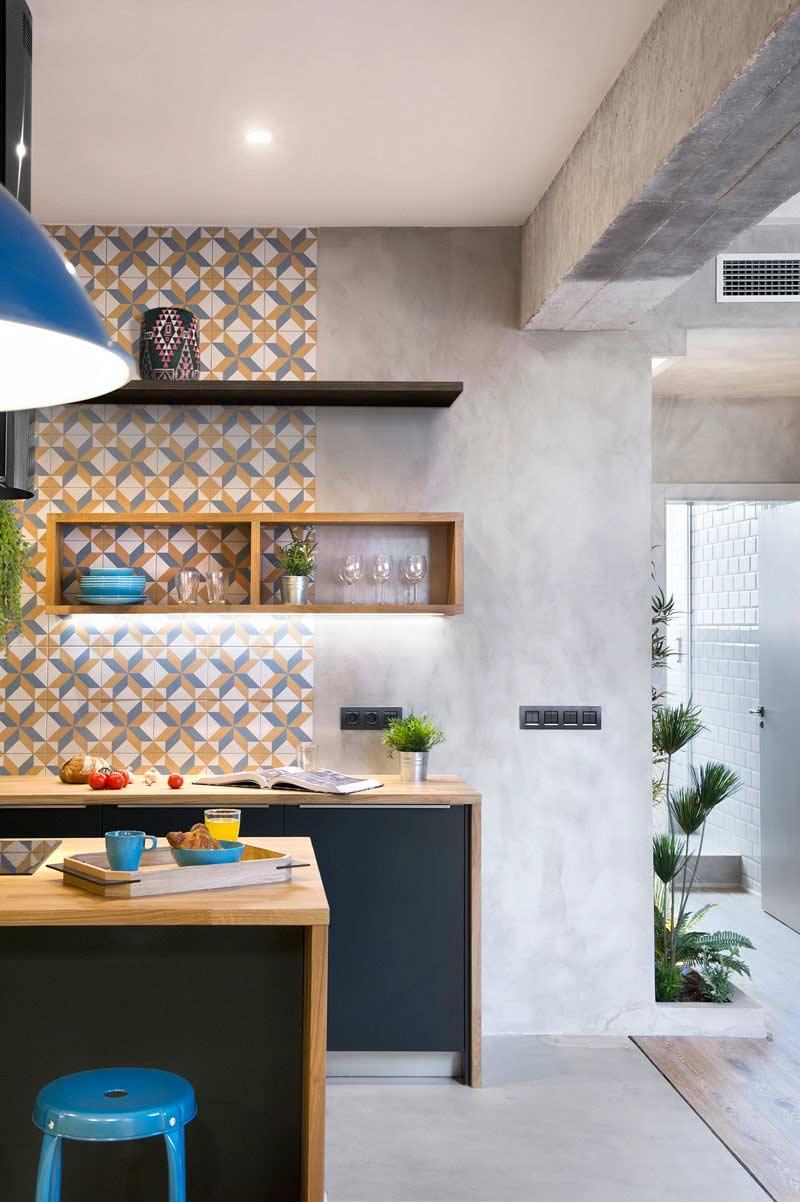 Cozinha Moderna Com Parede De Cimento Queimado Diy Home